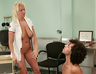 Dax can't stop looking at the nurses tits