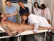 Dr Austen has brought two nurses and two student doctors on her rounds today. Male patient Luke is very nervous when she wants to examine him naked in front of them all. They persuade him to take his ...