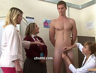 Bartholomew is ordered to go to the doctor's for a thorough check up. But the doctor intends to perform a very thorough inspection of his naked body and requires assistance to do so. His penis is meas...