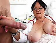 Big tits granny Berta hospital sex with a boy