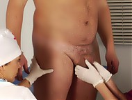 Submissive cock and ass of a beefy patient