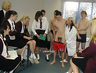 Teacher forces St Dunstans boys to strip and become an exhibit for the school girls. Spanking, anal penetration and masturbating in front of girls.
