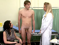 The poor lad ends up stark naked in front of the female doctor, nurse, his auntie AND his cousin Amber!