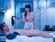 The undead Maitresse Madeline teases, torments, and fucks pervy undertaker Alex Adams as revenge for his depraved ways.