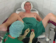 Painful horny injections into scrotum and pee